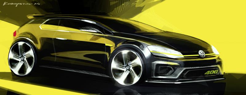 Foto Tecnicas Volkswagen Golf R 400 Concept 2014