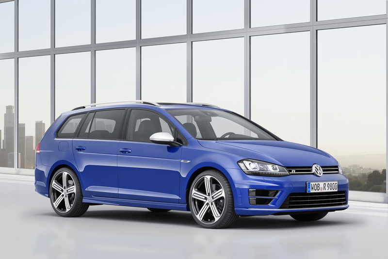 Foto Lateral Volkswagen Golf R Variant Familiar 2015