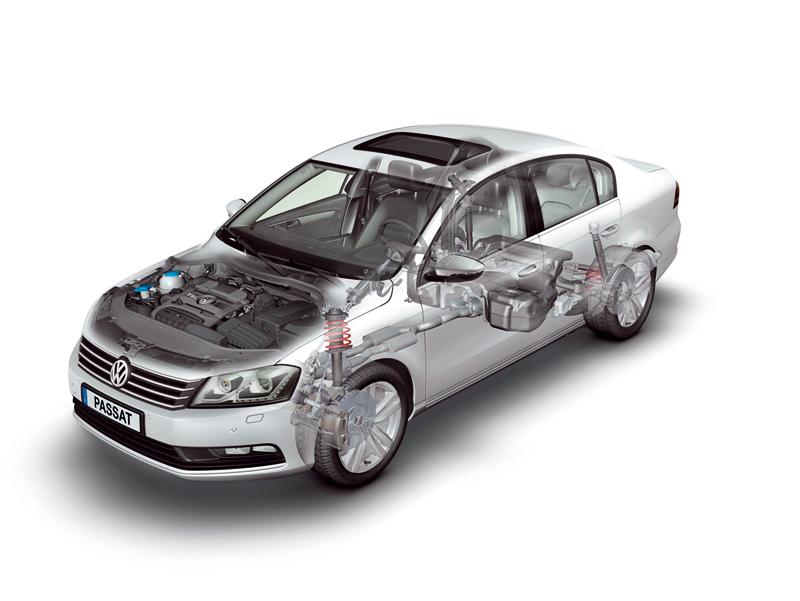 Foto Tecnicas-(12) Volkswagen Passat Sedan 2010