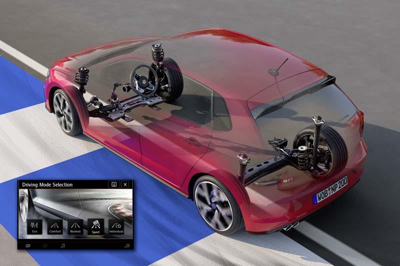 Volkswagen Polo GTI 2017, foto suspensión adaptativa