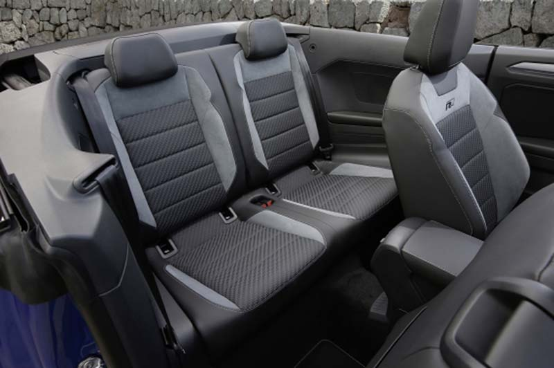Volkswagen T-Roc Cabrio, foto asientos traseros
