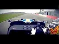 Kamui Kobayashi drives the Caterham Seven 620 R at Silverstone