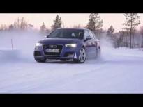 El nuevo Audi RS 3 Sportback se lo pasa bien en la nieve