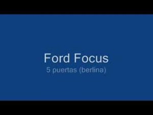 Ford Focus 2008 (Coupe, Berlina y Sportbreak) -no sedán-