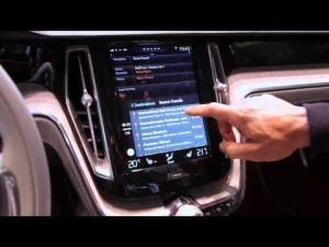 Apple Carplay Demo in Volvo Concept Estate -- Geneva Motor Show 2014