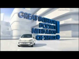 Vídeo Volkswagen up con infografías