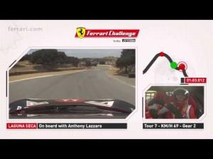 Una vuelta a bordo del Ferrari en Laguna Seca