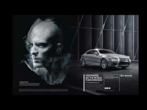 Lexus LS y el artista Giles Revell