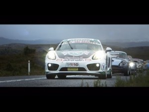 Jim Richards en el rally Targa de Tasmania con el Cayman S