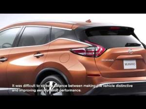Nissan Murano 2015: Mejoras aerodinámicas