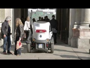Renault Twizy por las calles de Milán