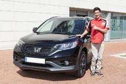 Honda entrega un CR-V a Joan Barreda