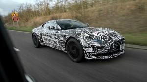 Primeras imágenes del Aston Martin DB11, aún con camuflaje