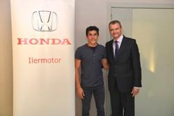Marc Márquez asiste a la inauguración de un Concesionario Honda