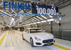 Maserati celebra la producción del vehículo 100.000 en la planta Avv. Giovanni Agnelli de Grugliasco