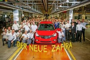 Pistoletazo de salida a la producción del nuevo Opel Zafira