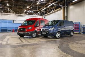 Ford Transit y Ford Transit Custom; refuerzo de eficiencia y equipamiento
