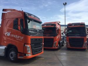 Ondara Logística crece con la suma de 15 unidades del Volvo FH 460 a su flota