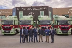 Transportes Belzunces apuesta una vez más por el MAN TGX sumando 10 nuevas unidades a su flota