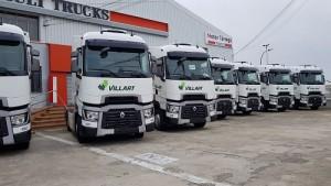 Villart Logistic refuerza su apuesta por el rombo sumando 13 nuevas unidades del Renault Trucks T 520