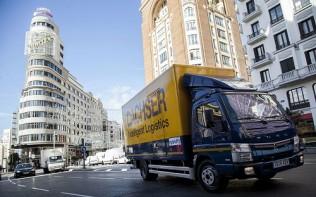 Dachser y Mercedes-Benz Trucks ponen en marcha un reparto más sostenible en Madrid  con el Fuso Canter Eco Hybrid