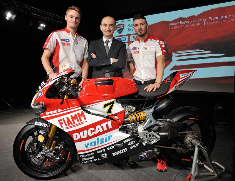 Foto Ducati Superbikes Davies Domenicali Giugliano 2014