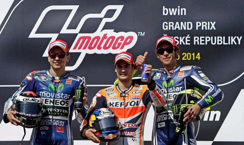 Foto Podio MotoGP GPRCheca 2014