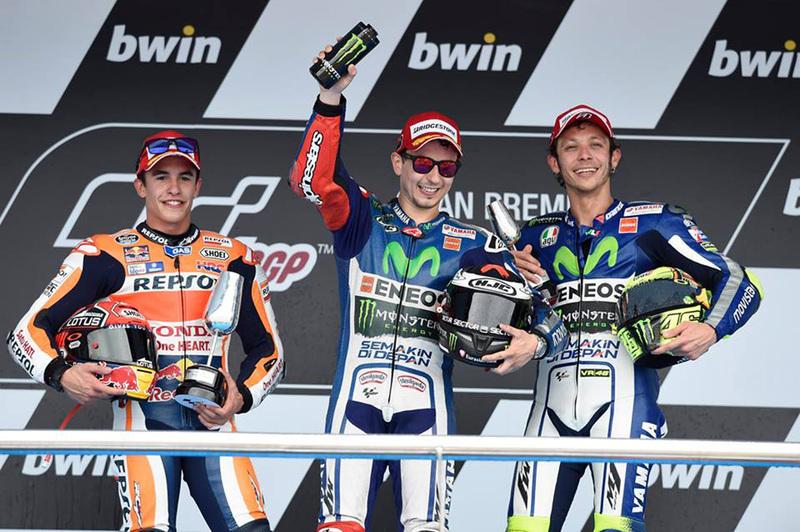 Foto Podio MotoGP GP Espana Jerez 2015 1