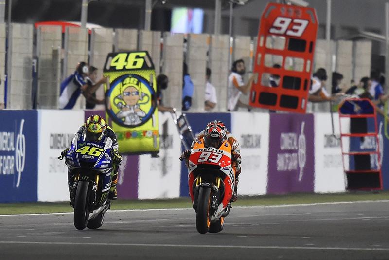 Foto Rossi Marquez MotoGP Qatar 2014