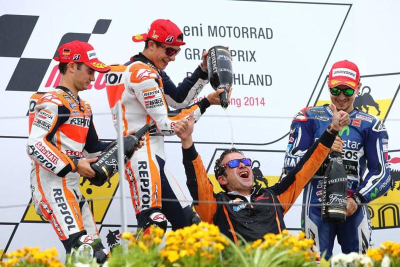 Foto Podio MotoGP GPAlemania 2014