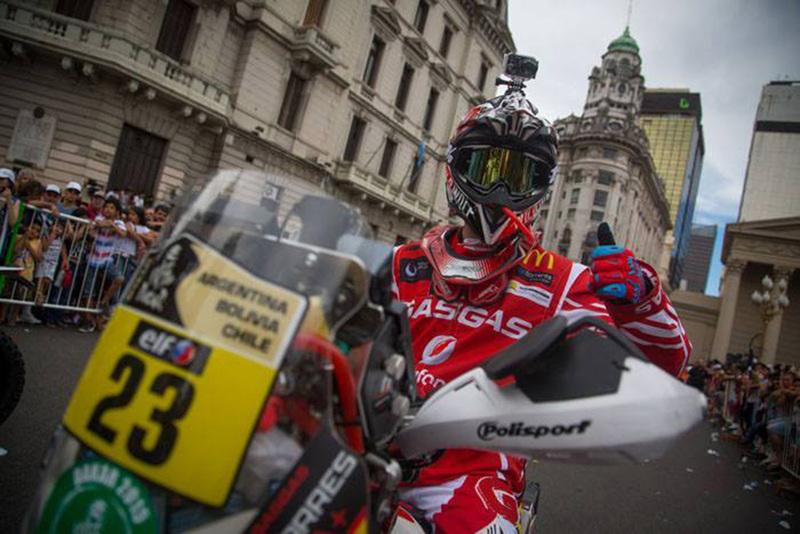 Foto Gerard Farres Team Gas Gas Etapa1 2015