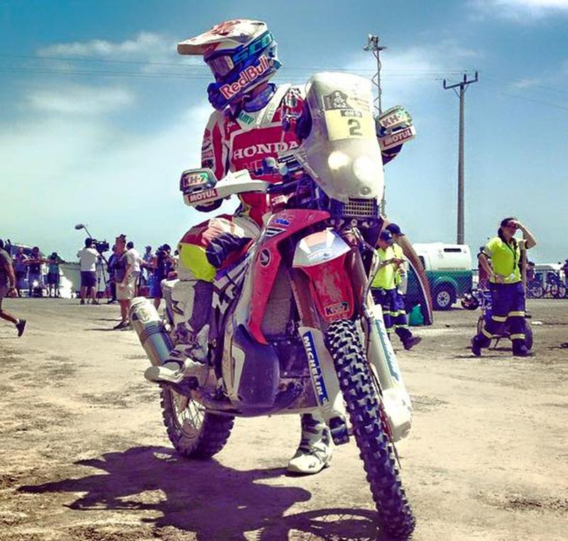 Foto Joan Barreda HRC Etapa5 Dakar 2015