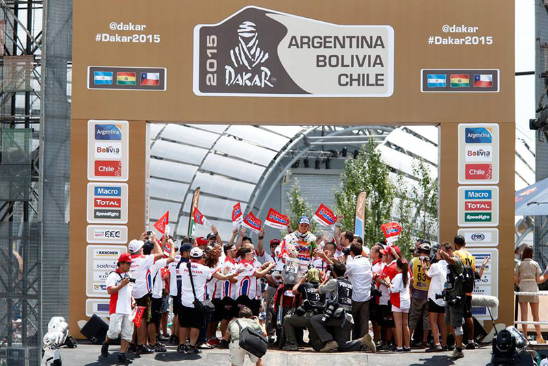Foto Laia Sanz Honda Etapa13 Dakar 2015 1