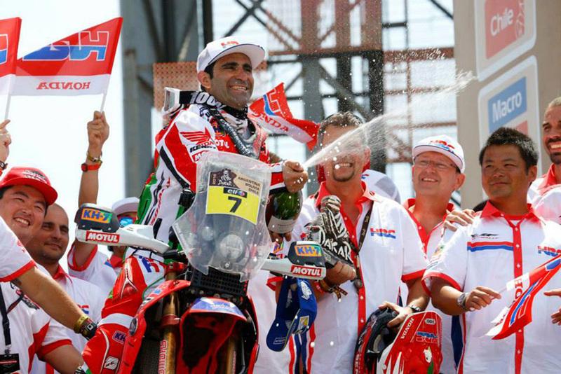 Foto Paolo Gonsalves Honda Etapa13 Dakar 2015 2
