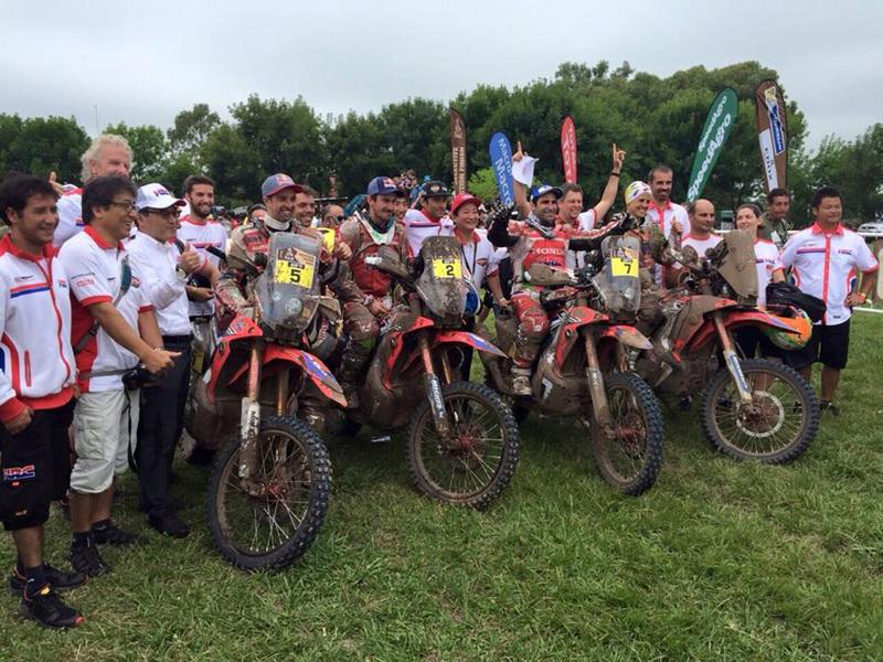 Foto Team HRC Honda Etapa13 Dakar 2015 2