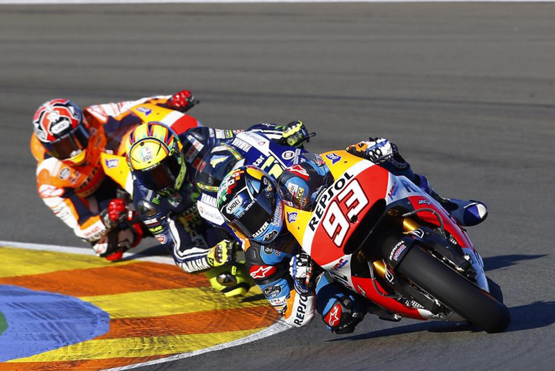 Foto AMarquez Rossi MMarquez Test Valencia T2015 1