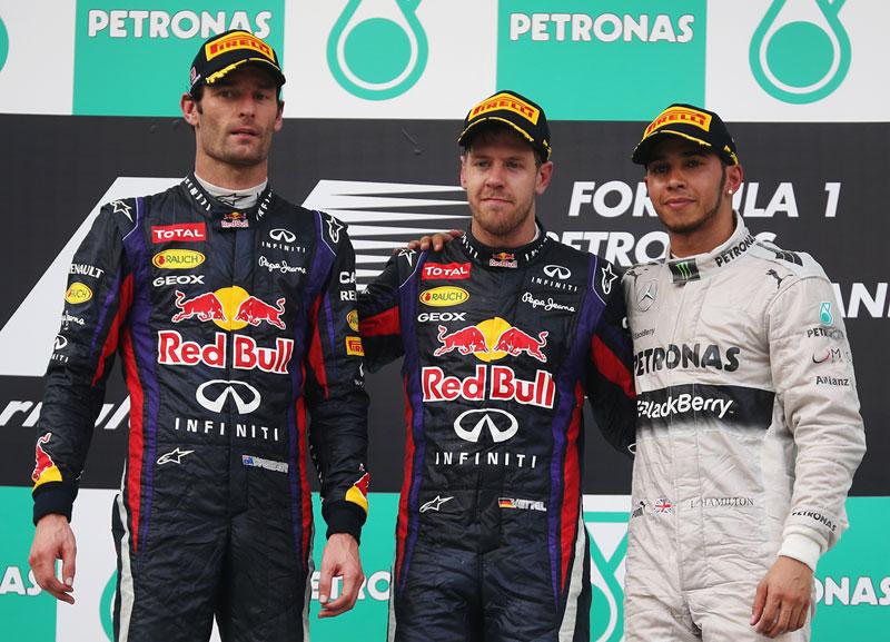 Podium GP de Malasia 2013