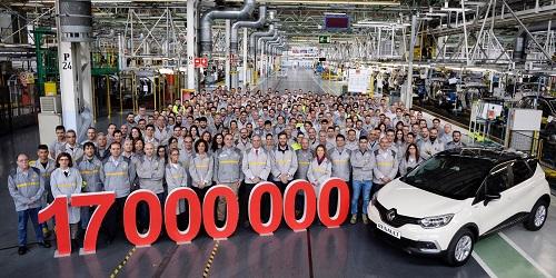 Renault España alcanza en Valladolid los 17 millones de vehículos producidos en nuestro país
