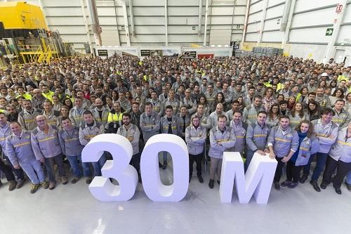 La planta de motores de Renault en Valladolid supera los 30 millones de motores producidos
