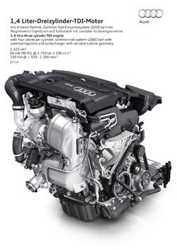 Motor 1.4 TDI de Audi