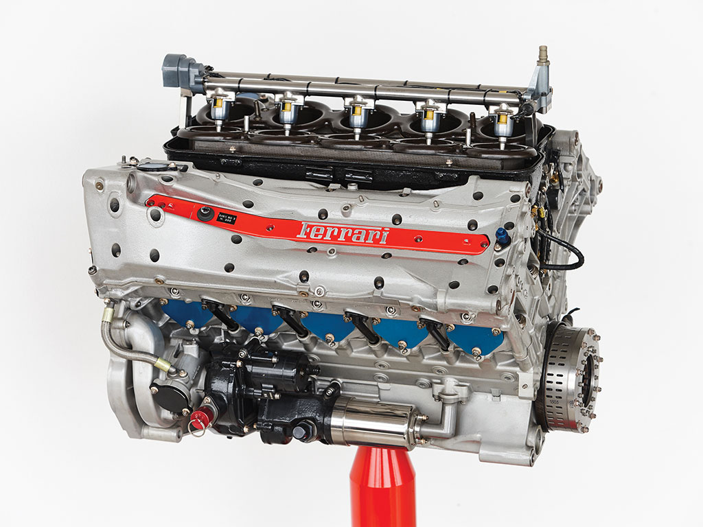 A subasta un motor V10 Ferrari de Fórmula 1