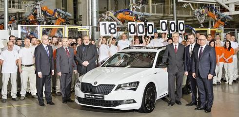 Skoda produce su automóvil número 18 millones