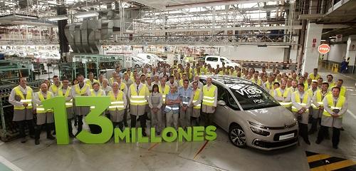 La planta PSA de Vigo supera los 13 millones de vehículos producidos