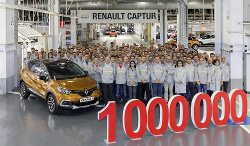 Renault Captur, 1 millón de éxitos made in Valladolid