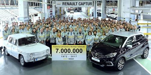 Renault carrocería y montaje de Valladolid produce su vehículo 7 millones