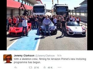 Clarkson, Hammond y May comienzan la grabaci�n de su nuevo programa de motor