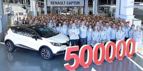 Logística, pilar de la producción del Renault Captur en Valladolid
