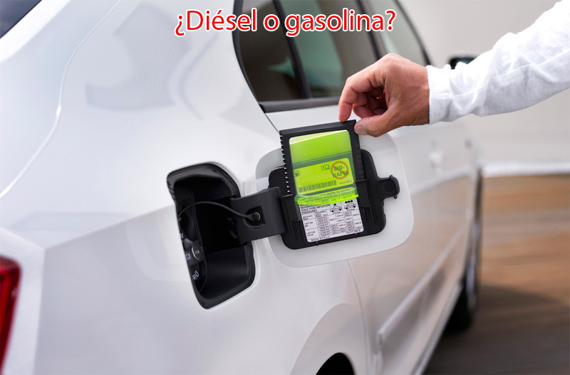 Comparar diésel con gasolina