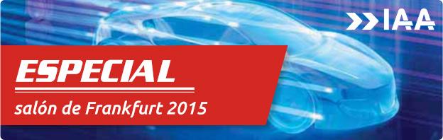 Banner del salón internacional del automóvil de Frankfurt 2015